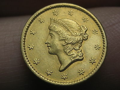 1854-S $1 Gold Liberty Head One Dollar Coin- VF/XF Details