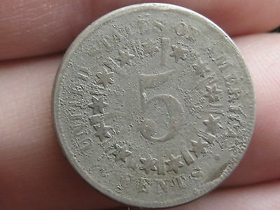 1866 Shield Nickel 5 Cent Piece- Scarce Type Coin