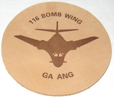 Georgia Air National Guard 116 Bomb Wing Leather Coaster
