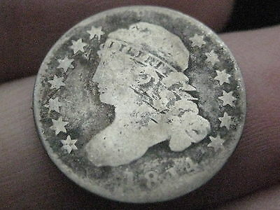 1814 Capped Bust Silver Dime- Small Date- Very Rare