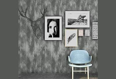 3D textured GREY Cement  look Murals wall paper Industrial Shop fitting