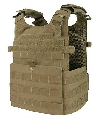 NEW Condor Tactical Molle Gunner Lightweight Plate Carrier Vest - Coyote Brown
