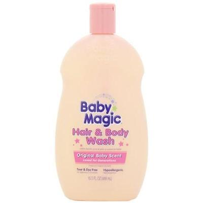 Baby Magic Hair and Body Wash, Original Baby Scent, 16.5 Ounces (Pack of 2) New