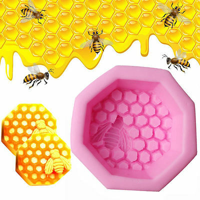 Bee Honeycomb Craft Silicone Soap Mold DIY Fondant Chocolate Cake Candle Moulds