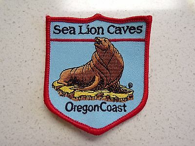 New Vtg Sea Lion Caves Oregon Coast  Embroidered Patch Souvenir 123