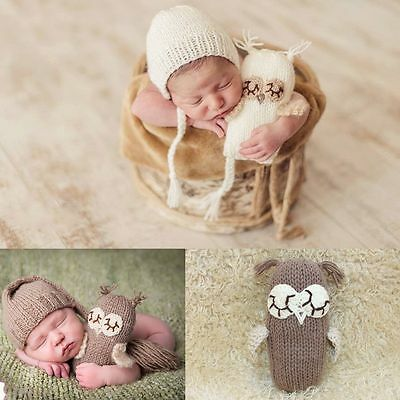 Newborn Baby Boys Girls Crochet Knit hat+Toys Photo Photography Prop Outfits