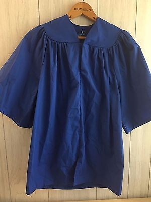 Kids/Child's Graduation Gown Rhyme University Small Blue
