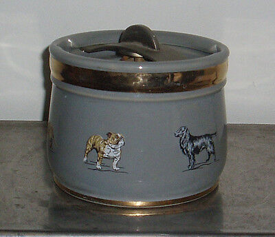 Antique ROYAL DOULTON Tobacco Jar Humidor ca.1920's with a Spring Loaded Lid.