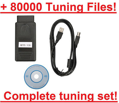 MPPS V16 EDC17 + 80000 Chiptuning Files - complete chip tuning set ECU remap