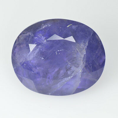 Rare Natural Gems Stone Collection  Brazilian Iolite Gem 9.01 Ct Oval Shape