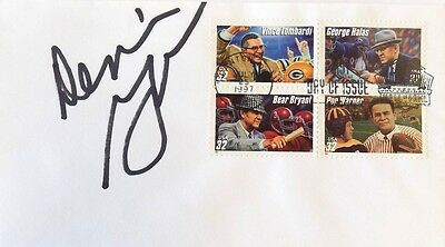 Dennis Green Minnesota Vikings Signed First Day Cover