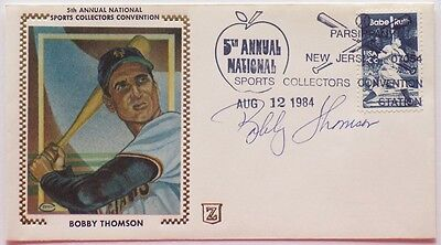 Bobby Thomson New York Giants Signed First Day Cover