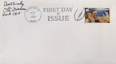 Otto Graham Cleveland Browns Signed First Day Cover