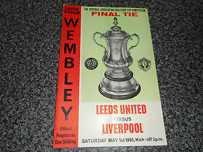 1965 F A CUP FINAL :  LEEDS UNITED  v  LIVERPOOL  @ WEMBLEY MAY 1st *FREE POST*