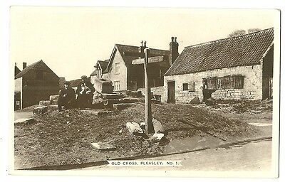 Pleasley - a photographic postcard of the Old Cross