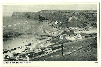 Saltburn-by-the-Sea - a photographic postcard of Huntcliffe