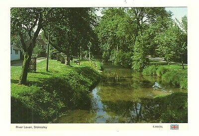 Stokesley - a larger size photographic postcard of the River Leven