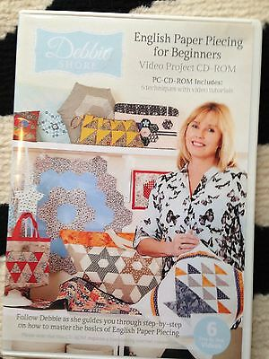 Debbie Shore English Paper Piecing Video Project PC CD ROM