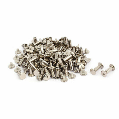 15pcs 5mmx40mm Binding Chicago Screw Post Silver Tone for Photo Albums Scrapbook