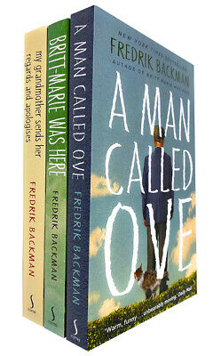 Fredrik Backman Collection 3 Books Bundle Set A Man Called Ove, My Grandmother