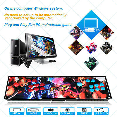 Metal Home Arcade Console Machine Double PK Joystick HD 680 In 1 Video Games