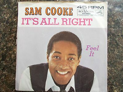 "Ex- Us Rca Victor.45 - Sam Cooke - ""feel It"" / ""it's All Right"""