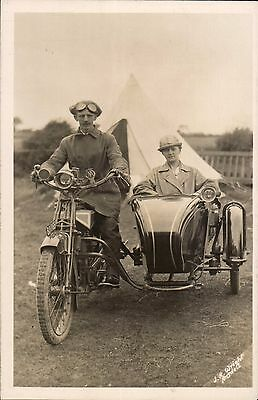Oldham registered Motorcycle & Sidecar by J.R.Wright, Ansdell. BU 1165.