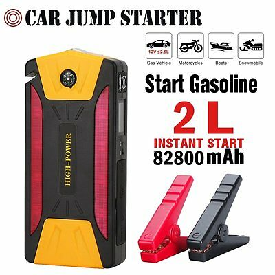 800A 80200mAh Car Jump Start Starter Battery Charger Power Booster Rescue Pack