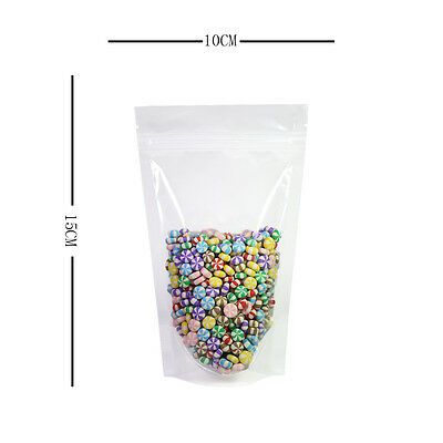 Smell Free Ziplock Grip Seal Bags Stand Up Pouch Clear 98% Clarity - 10x15CM