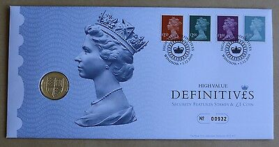 High Value Definitives 2009 Royal Mint Fdc + 2009 £1 Coin Uncirculated