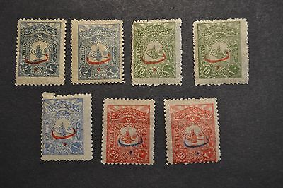 belle selection timbres anciens TURQUIE 1906 TOUS NEUFS **