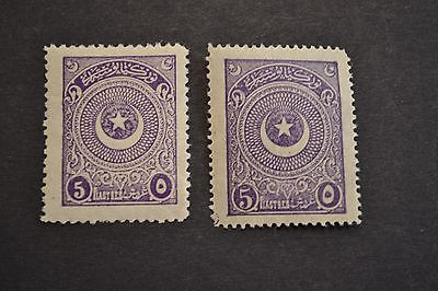 belle selection timbres anciens TURQUIE 1923 neuf * et **
