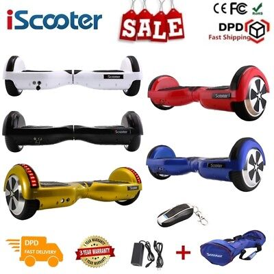 """6.5"""" LED self balancing scooter Balance board électrique Bluetooth Iscooter Bag"""