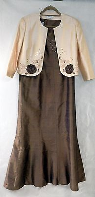Condici Silk Maxi Dress w/ Jacket 'Mother of the Bride/Garden Party' Size UK18