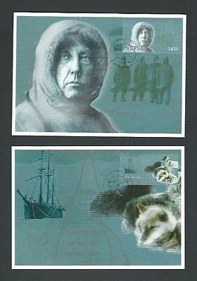 Norway 2011 Used Cent of 1st Men at South Pole sg 1785/6 on Postcards