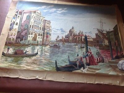 Large Vintage Tapestry Of Venice
