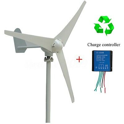 400W Power DC 12/24V 3 Blades Wind Turbine Generator Kit With Charge Controller