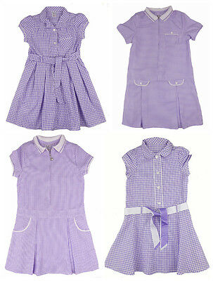 Girls Lilac Summer School Dress Different Styles 3-4 years up to 13 Years