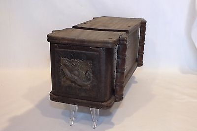 Antique Vintage Sewing Machine Cabinet Drawer W/ornate Front