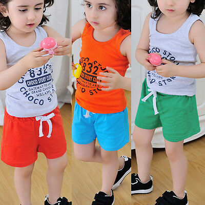 Summer Kids Infant Baby Boy Girl Shorts Cotton Casual Beach Trousers Sport Pants