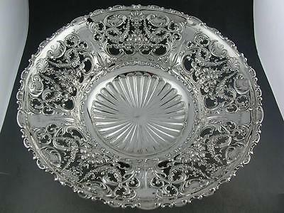 """Sterling WHITING large 9 1/4"""" elaborate pierced footed Bowl IMPERIAL QUEEN"""