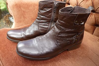 Next Men's brown leather ankle boots. Size 10