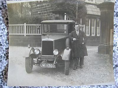 MORRIS COWLEY VINTAGE CAR...WEETWOOD LANE..LEEDS..c.1929..FOXHILL COTTAGE TODAY
