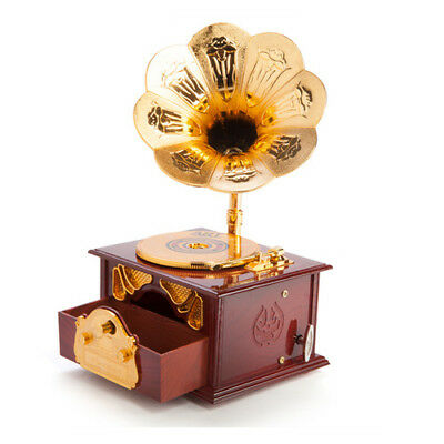 Animated Gramophone Music and Trinket Box Vintage Retro 80's 90's Audio Musical