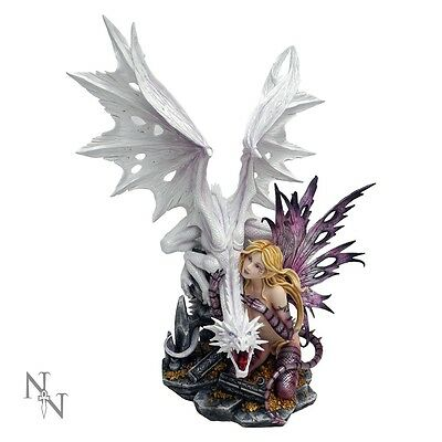Aarya Dragon Guardian Fairy large 60 cm mythical ornament by Nemesis Now D0131A3