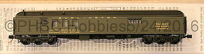 N Scale - MICRO-TRAINS 148 00 030 BURLINGTON 70' Heavyweight Mail Baggage Car