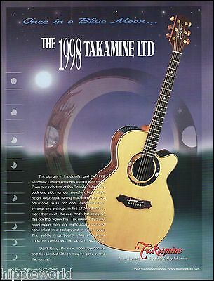 The 1998 Takamine Limited Edition LTD-98 acoustic guitar ad 8 x 11 advertisement
