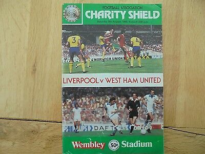 Liverpool V. West Ham - 9.8.80 Charity Shield