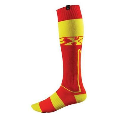 Fox Motocross Socken - Fri Thick Imperial Rot/Gelb Motocross Enduro MX Cross