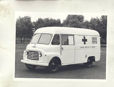 1960 Commer Colony Hospital St. Vincent Ambulance ORIGINAL Factory Photo wy0460